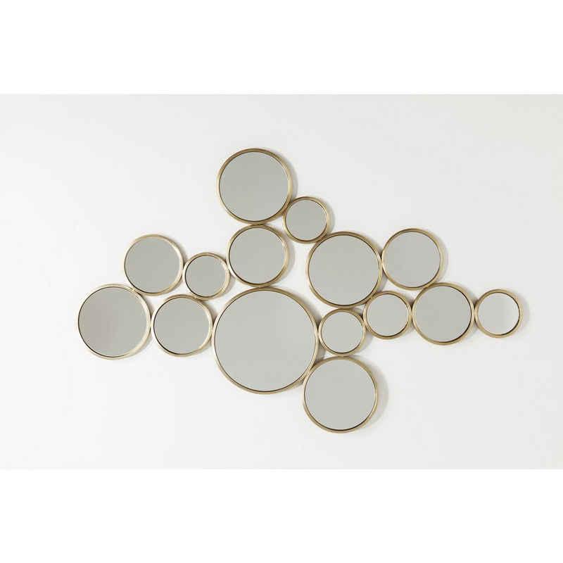 KARE Dekospiegel »Spiegel Bubbles Messing 93x138cm«