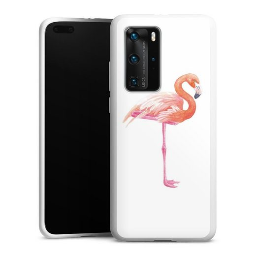 DeinDesign Handyhülle »flamingo3« Huawei P40 Pro, Hülle Flamingo Tiere Sommer