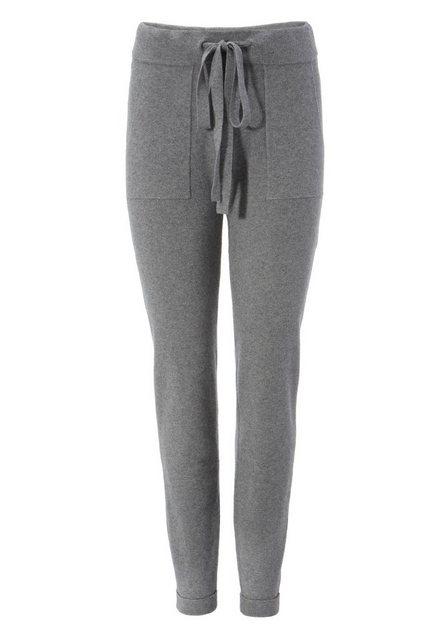 Hosen - Aniston CASUAL Strickhose mit 2 aufgesetzten Taschen NEUE KOLLEKTION › grau  - Onlineshop OTTO