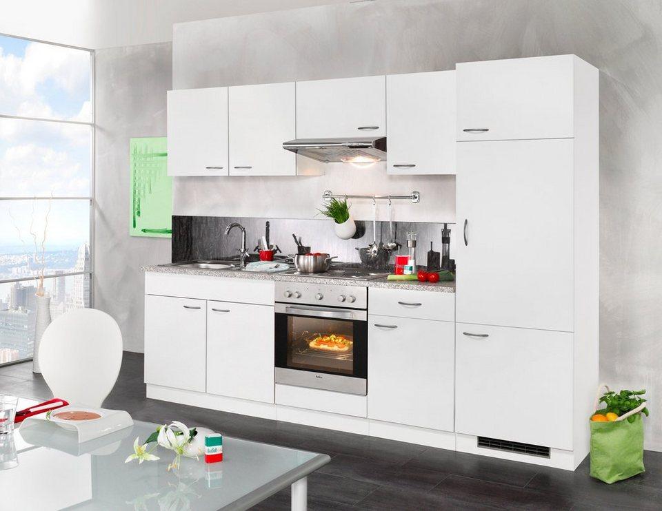 WIHO KÜCHEN Küchenzeile mit E-Geräten »Valencia«, Breite 270 cm online  kaufen | OTTO
