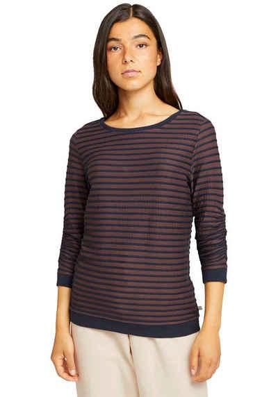 TOM TAILOR Denim Sweatshirt mit strukturiertem Streifen