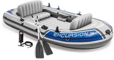 Intex Schlauchboot »Excursion 4«, (Set, -, mit 2 Paddeln und Luftpumpe)