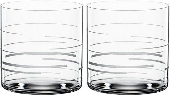 SPIEGELAU Tumbler-Glas »Lines«, Kristallglas, Dekor graviert, 330 ml, 2-teilig
