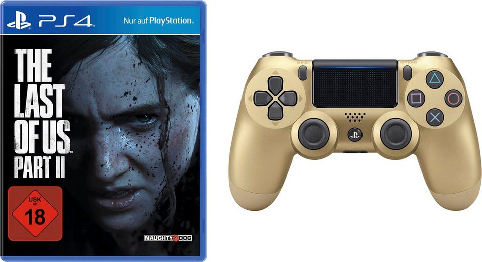 The Last of Us Part II PlayStation 4, inkl. Dualshock Wireless Controller gold