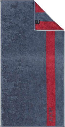 Joop! Handtücher »INFINITY Doubleface« (2-St), mit kontrastierendem Streifen