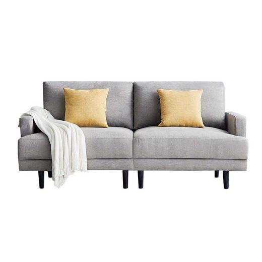 Masbekte Sofa, Bettfunktion, Massivholzrahmen, inklusive 2 Rücken
