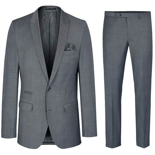 Paul Malone Anzug »Herrenanzug modern slim fit Herren Anzug - stretch« (2-tlg) grau HA41