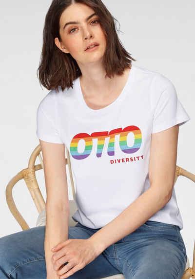OTTO T-Shirt »OTTO Logo Regenbogen Pride Edition« aus zertifizierter Bio-Baumwolle mit LOGO-Druck