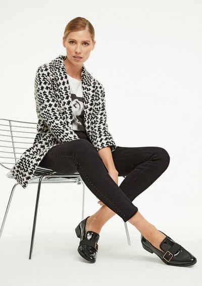 Comma 7/8-Jeans »Skinny Fit: Jeans mit Swarovski®-Steinen« Waschung, Applikation