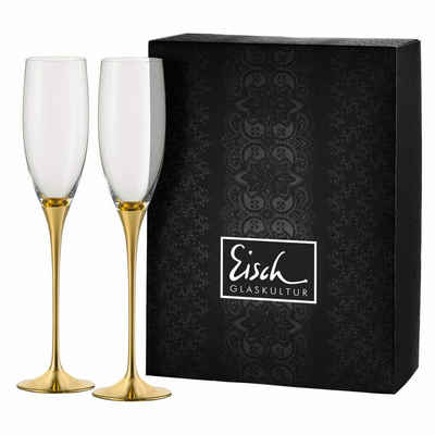 Eisch Sektglas »2er Set Gold Champagner Exklusiv«, Kristallglas