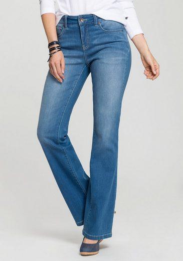 H.I.S Bootcut-Jeans »High-Waist« Nachhaltige, wassersparende Produktion durch OZON WASH