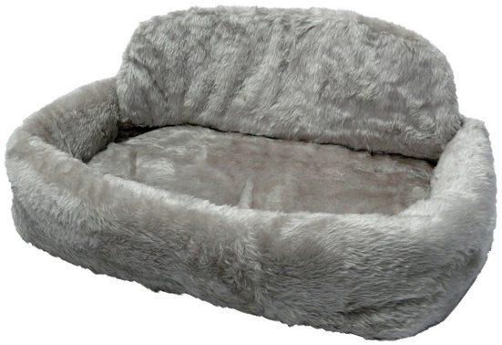 SILVIO design Tierbett »de Luxe mit Kissen Gr. 1«, BxLxH: 75x45x21 cm, grau