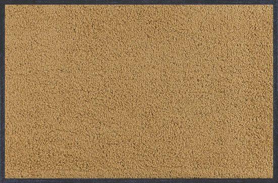 Fußmatte »Wash+Dry Fußmatte waschbar Sahara 40 x 60 cm Sauberlaufmatte sand-beige«, wash+dry by Kleen-Tex