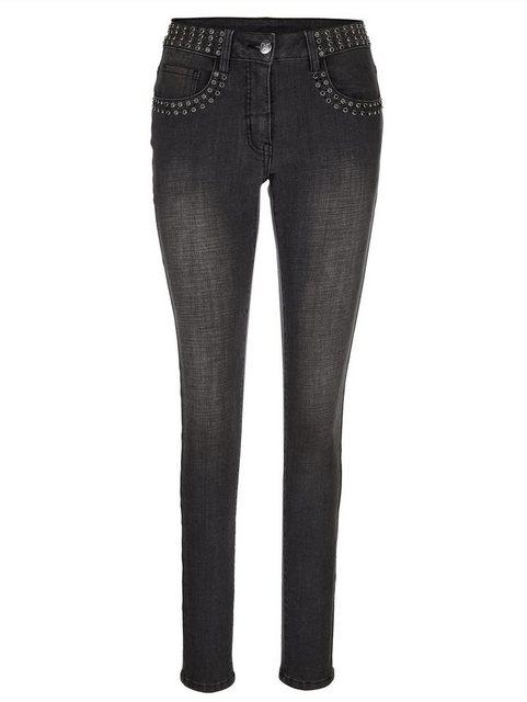 Hosen - Amy Vermont Jeans mit Strasssteindekoration › grau  - Onlineshop OTTO