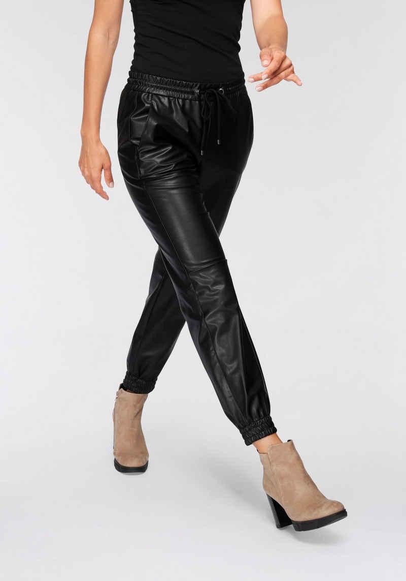 MAC Lederimitathose »Easy-Leather« In weicher Lederimitat-Qualität