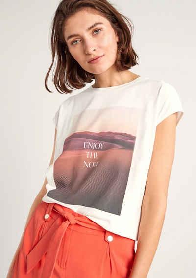 Comma Kurzarmshirt »Jerseyshirt mit Fotoprint« (1-tlg)