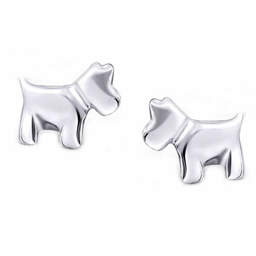 schmuck23 Paar Ohrstecker »Kinder Ohrringe Hund 925 Silber«, Damen Mädchen Kinderschmuck Geschenk