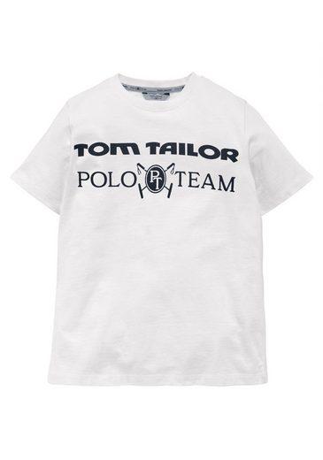TOM TAILOR Polo Team T-Shirt mit Logodruck