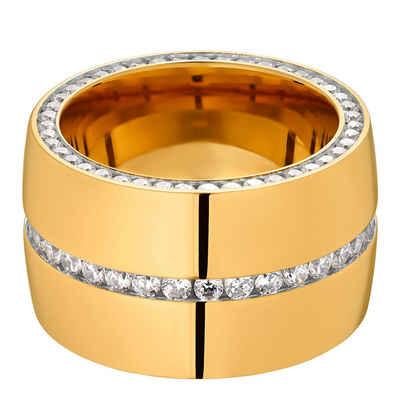 Heideman Fingerring »Ductus 60 Gold« (1-tlg), Damenring mit Stein