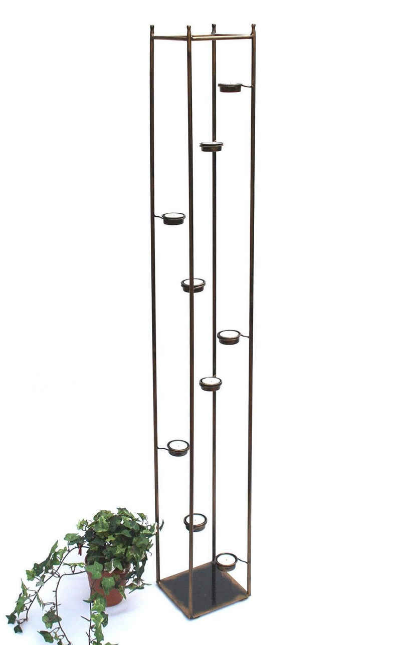 DanDiBo Teelichthalter »Lichtsäule 10-768 Teelichthalter 132 cm Ständer für 9 Teelichter Kerzenhalter«
