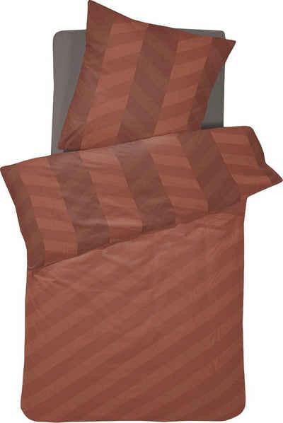 Wendebettwäsche »Atomy«, damai, mit diagonalen Streifen