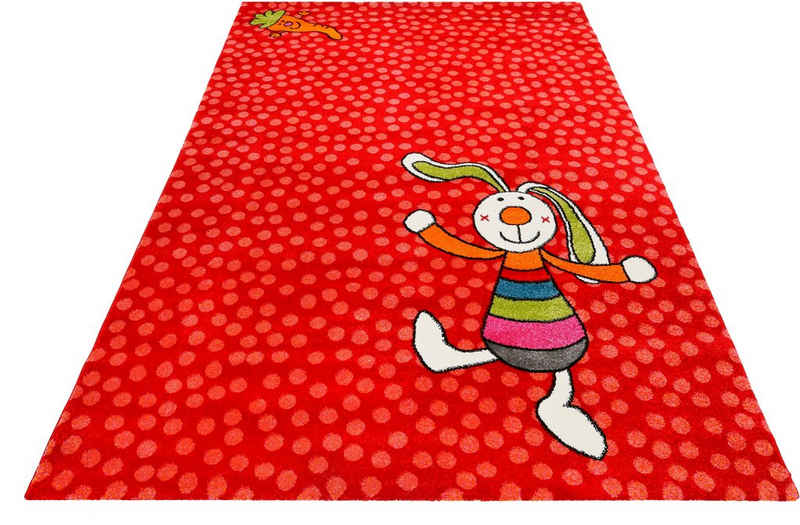 Kinderteppich »Rainbow Rabbit«, Sigikid, rechteckig, Höhe 13 mm