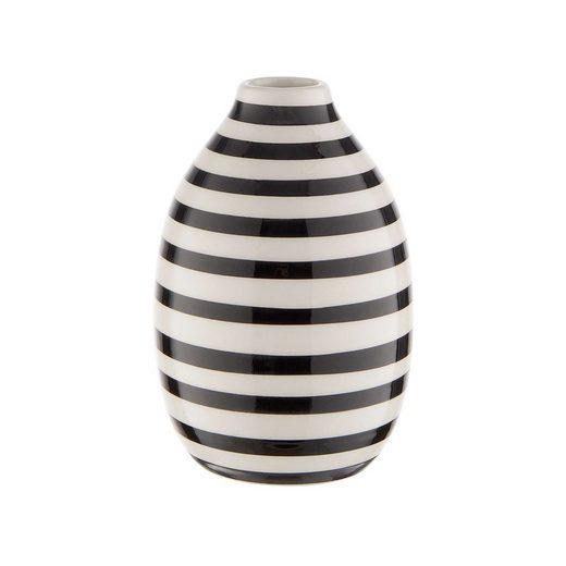 BUTLERS Dekovase »CARO Vase Streifen Höhe 14cm«