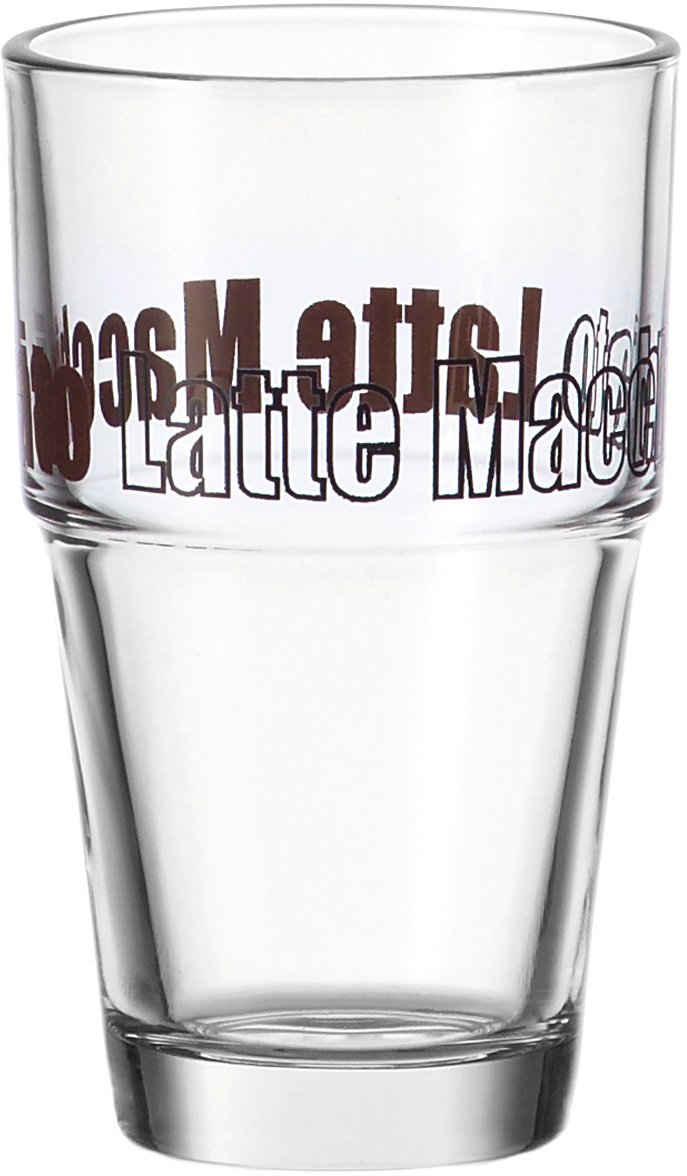 LEONARDO Latte-Macchiato-Glas »Solo«, Glas, 410 ml, 6-teilig