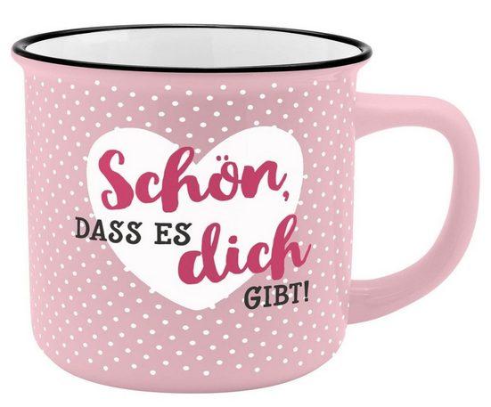 Sheepworld Tasse »Auswahl Sheepworld Gruss & Co - Lieblings- Kaffe- Becher Tasse in Emaille Optik Art: Schön dich gibt«