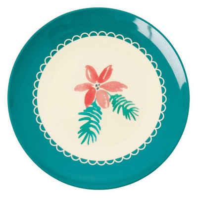 "rice Frühstücksteller »Melamin Teller ""Christmas Poinsettia"", Ø 16,5cm«"