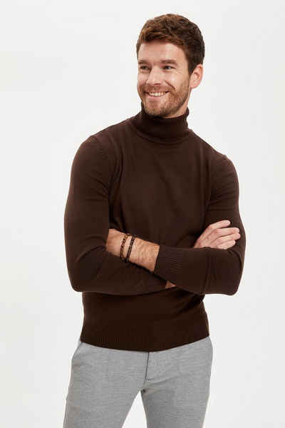 DeFacto Rollkragenpullover »DeFacto Herren Pullover Slim Fit Turtleneck Knitwear Sweater SLIM FIT MOCK NECK«