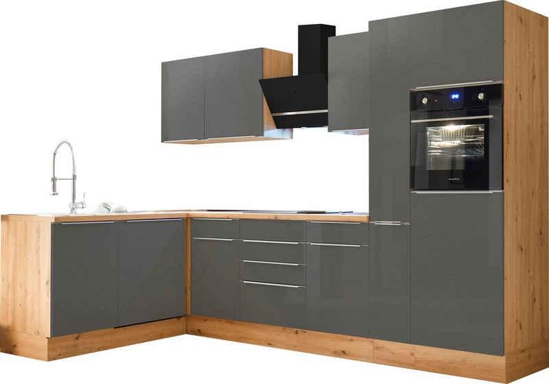 RESPEKTA Winkelküche »Safado«, mit 2 E-Geräte-Sets zur Auswahl, hochwertige Ausstattung wie Soft Close Funktion, schnelle Lieferzeit, Stellbreite 310 x 172 cm