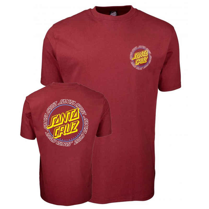Santa Cruz T-Shirt »Hollow Ring Dot - burgundy«