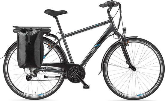 Telefunken E-Bike »Expedition XT481«, 21 Gang Shimano Altus Schaltwerk, Heckmotor 250 W, mit Fahrradtasche