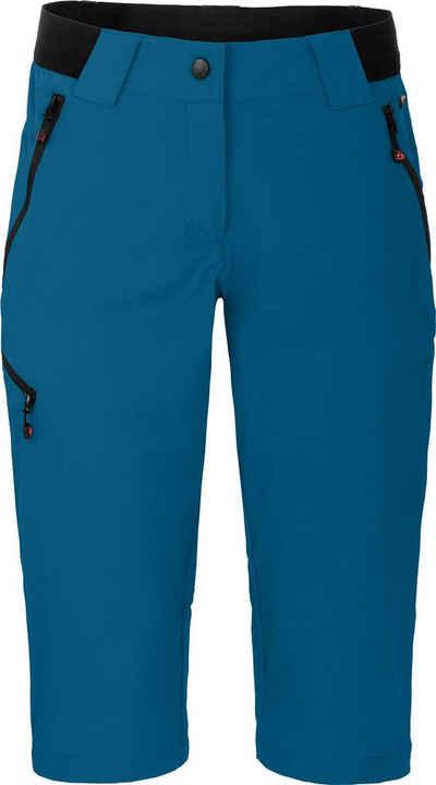 Bergson Outdoorhose »VIDAA COMFORT Capri« Damen 3/4 Wanderhose, leicht, strapazierfähig, Normalgrößen, Saphir blau
