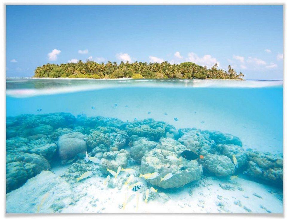 wallart poster »unterwasserwelt malediven« meer 1 stück