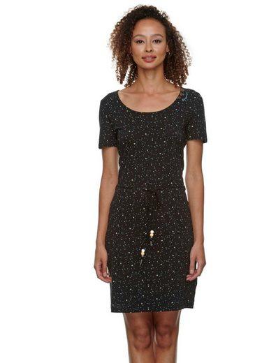 Ragwear Jerseykleid »PELIADA ORGANIC« (2-tlg., mit Bindeband) mit romantischem Allover-Druck