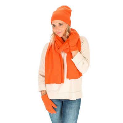 halsüberkopf Accessoires Strickhandschuhe »Strickhandschuh aus Wolle mit weichem Kaschmir« modischer Strickhandschuh