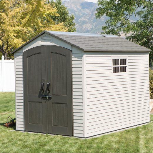 Lifetime Gerätehaus »Phoenix«, BxT: 214x285 cm, (Set), Kunststoff, BxT: 214x285 cm, inkl. Fußboden und Regale