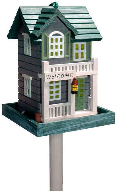 dobar Vogelhaus »Welcome«, BxTxH: 18x18x23 cm, mit Standbein