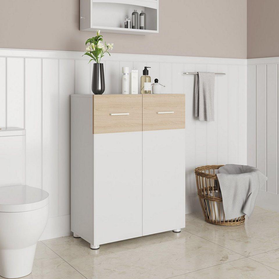 VASAGLE Sideboard »BBK20WN«, Badezimmerschrank, Sideboard mit Doppeltür,  weiß online kaufen   OTTO