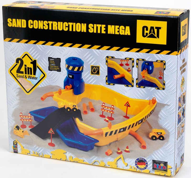 Klein Spielzeug-Radlader »Caterpilar CAT Sandbaustelle Mega«, (Set, 28-tlg), mit 3 Cat® Fahrzeugen; Made in Germany