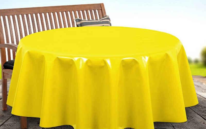 Beautex Tischdecke »Uni Wachstuchtischdecke OVAL RUND ECKIG, Farbe u. Größe wählbar, Tischdecke Wachstuch abwischbar« (1-tlg)