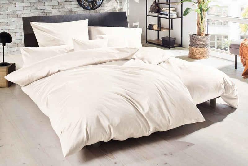 Bettwäsche »Luxus Satin Bettwäsche Uni 13 Farben 100% mercerisierte Baumwolle mit Reißverschluss«, Giancasa, mit Reißverschluss