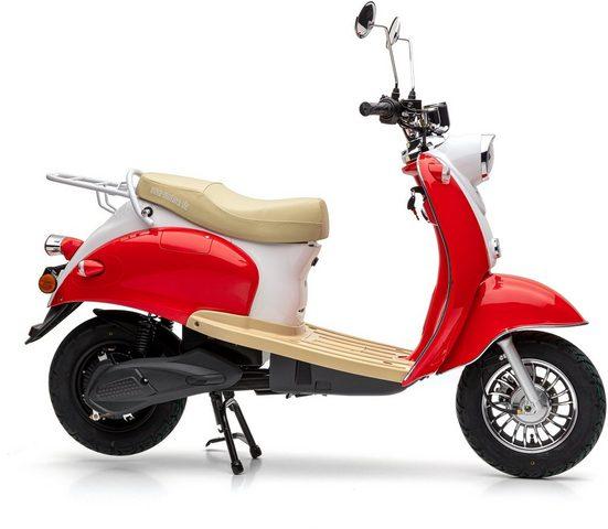 Nova Motors E-Motorroller »eRetro Star cherry red«, 45 km/h, (Packung)