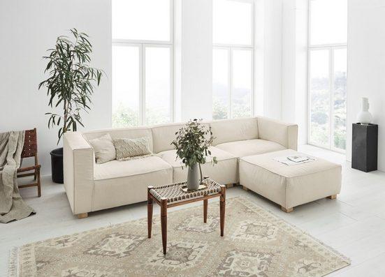 OTTO products Ecksofa »Ciella«, ein wahres Modul Eco-Sofa mit Federkern, frei von Polyesterbezügen