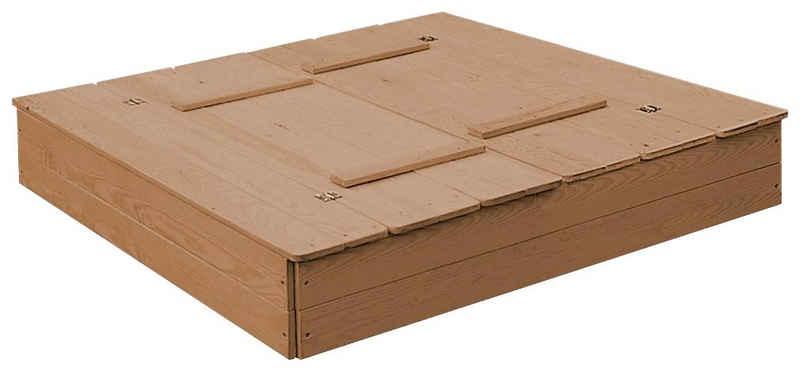 roba® Sandkasten, aufklappbar zu 2 Bänken, BxTxH: 127x123,5x21,5 cm