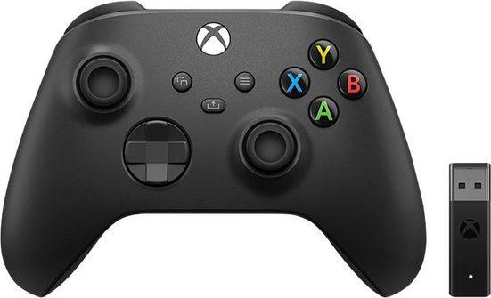 Xbox »Carbon Black« Wireless-Controller (inkl. Wireless Adapter für Windows 10)