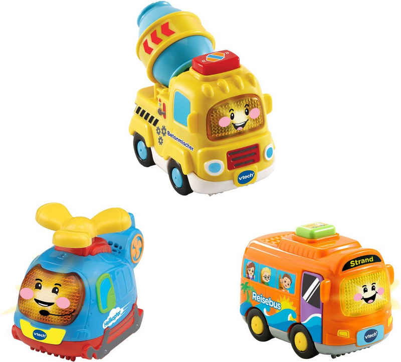 Vtech® Spielzeug-Auto »Tut Tut Baby Flitzer 3er-Set Reisebus, Helikopter, Betonmischer«