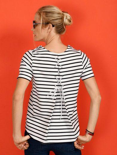 Laura Kent Sweatshirt mit Schnürung